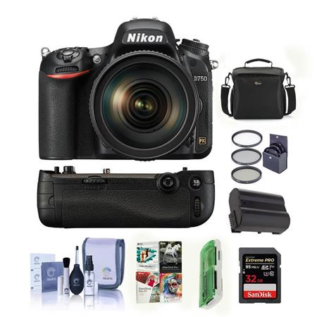 Nikon D750 DSLR with 24-120mm Lens and Free Nikon MB-D16 Battery Grip Kit  (Grip + Accessories)