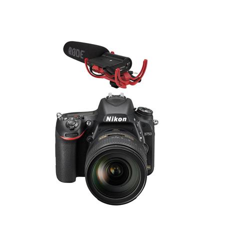 Nikon D750 DSLR Camera w/ 24-120mm f/4G ED VR Lens & Rode VideoMic