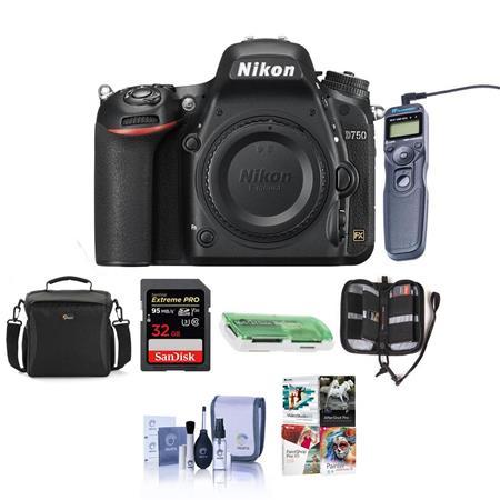 Nikon D750 DSLR Body and Free Pc Accessory Bundle