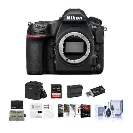 Nikon D850 DSLR Camera Body With Free PC Accessory Bundle