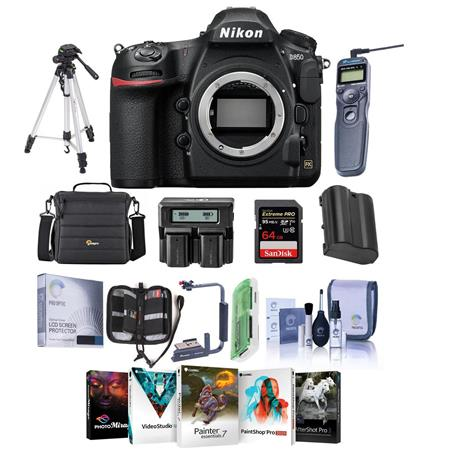 Nikon D850 DSLR Camera Body With Premium Accessory Bundle