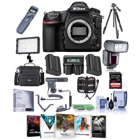 Nikon D850 DSLR Camera Body With Pro Accessory Bundle