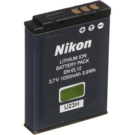 official photos f3df2 b94ab Nikon EN-EL12 Rechargeable Lithium-ion Battery Pack for the Coolpix AW110,  S31, S640, S610, S800c, S710, S6100, S7100, S9500 Digital Cameras
