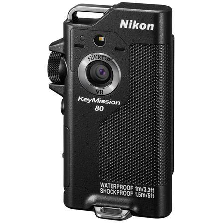 Nikon KeyMission 80 Action Camera, 12 3 MP CMOS Sensor, SnapBridge Built-in  Wi-Fi & Bluetooth, Full HD 1920x1080 at 30p