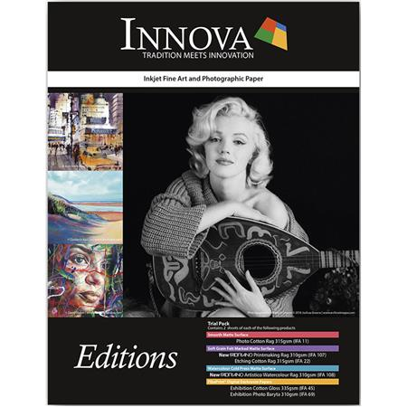 Innova Art Editions Semi Gloss Photo Paper Sample Pack 85x11 12