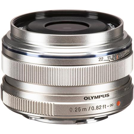 Olympus M  Zuiko Digital 17mm f/1 8 Lens - Silver - for Micro Four Thirds  System