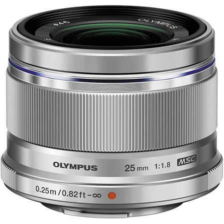 Olympus M  Zuiko Digital 25mm f/1 8 Lens - Silver - for Micro Four Thirds  System