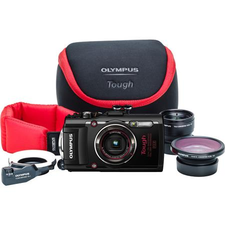 olympus stylus tough tg 4 digital camera with pro kit. Black Bedroom Furniture Sets. Home Design Ideas