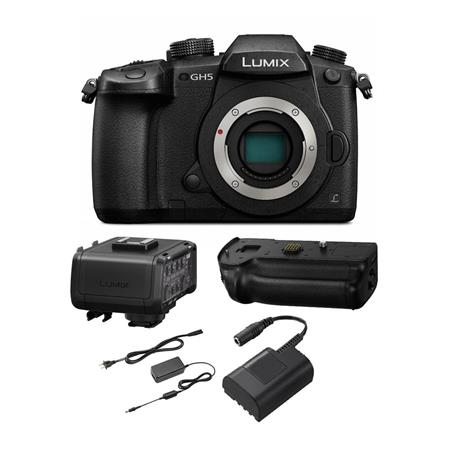Panasonic Lumix DC-GH5 Mirrorless Body, Black with Video Kit