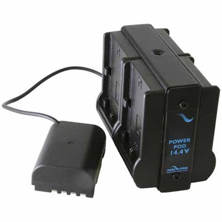 IndiPRO Quad Power Grid 4 Bay Canon LP-E6 Battery Adapter for Panasonic GH4  Camera