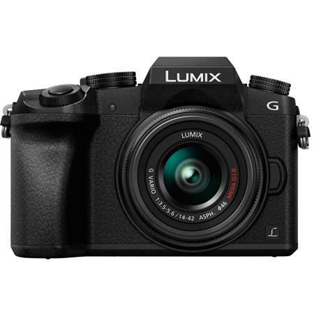 Lumix DMC-G7 Mirrorless Camera with Lumix G Vario 14-42mm Lens, Black