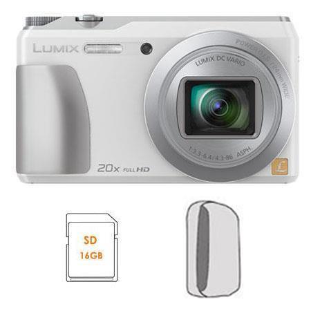 Panasonic DMC-ZS35W 16MP HD Digital Camera Bundle