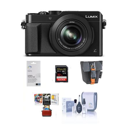 Panasonic Lumix DMC-LX100 Digital Camera with Free Mac Accessory Bundle,  Black