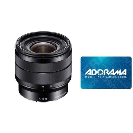 Sony SEL1018 10-18mm Lens w/Gift Certificate