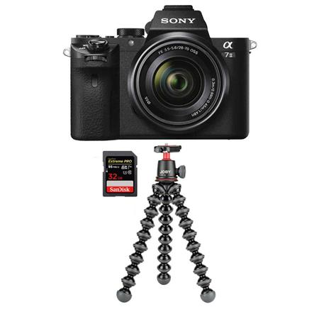 Alpha a7II Mirrorless Camera with FE 28-70mm f/3.5-5.6 OSS Lens - Bundle With 128GB U3 SDX