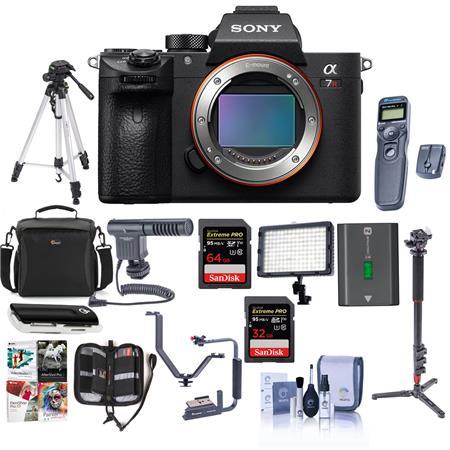 Sony a7R III Mirrorless Digital Camera Body With Pro Accessory Bundle