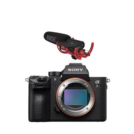 Sony a7R III Mirrorless Digital Camera Body - With RODE VideoMic with  Rycote Lyre Suspension System