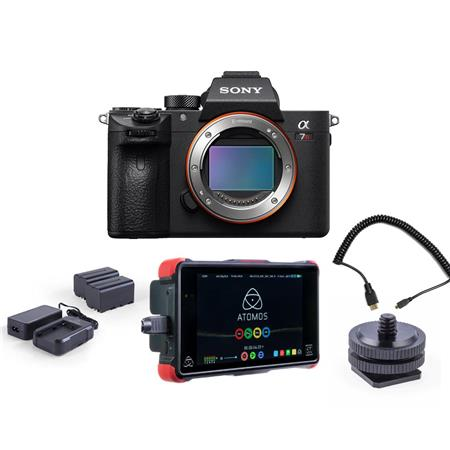 Sony a7R III Mirrorless Camera Body With Atomos Ninja Flame 7
