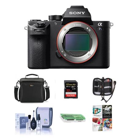 Alpha a7S II Mirrorless Digital 4K Camera, - Bundle with Camera Bag, 32GB SDHC U3 Card, Cl