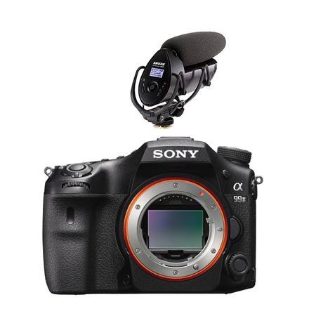 Sony A99 Ii >> Sony Alpha A99 Ii Dslr Body With Shure Vp83f Camera Mount Shotgun