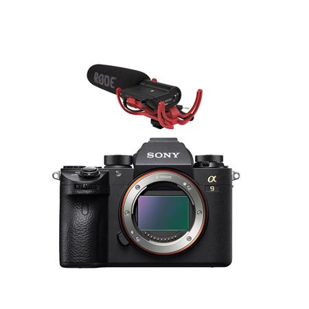 Alpha a9 Mirrorless Digital Camera, Full Frame - With RODE VideoMic with Rycote Lyre Suspe