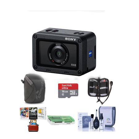 Sony RX0 Ultra-Compact Waterproof and Shckproof Digital Camera W/Free Acc  Bundle