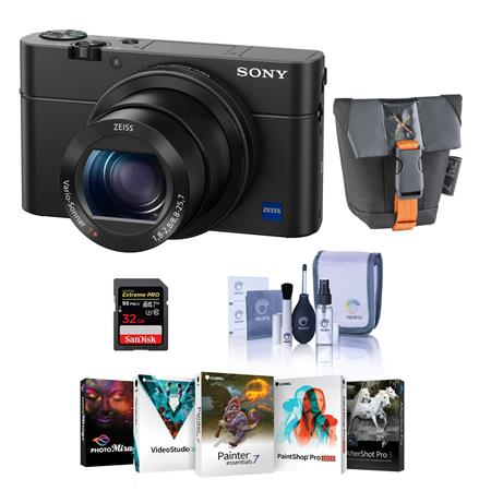 Sony Cyber-Shot DSC-RX100 IV Digital Camera and Free Accessories