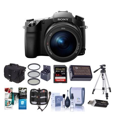Sony Cyber-Shot DSC-RX10 III Digital Camera, Black With Premium Accessory  Bundle