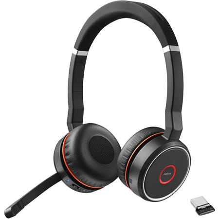 Jabra Evolve 75 Ms Stereo Bluetooth Headset With Link 370 Usb Adapter 7599 832 109
