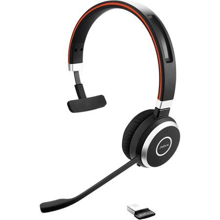 Jabra Evolve 65 Ms Mono Bluetooth Headset With Usb Adapter 6593 823 309