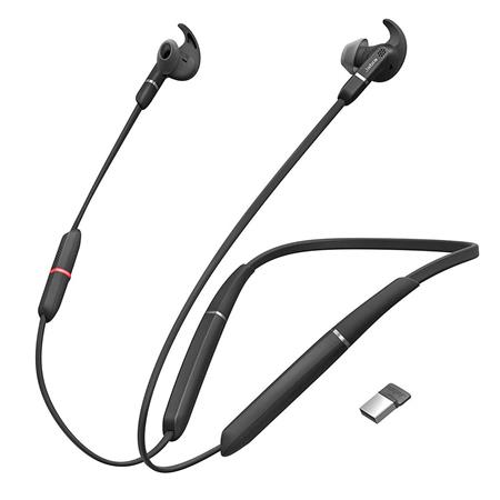 Jabra Evolve 65e Ms Wireless Headset With Microphone And Link 370 Usb Adapter 6599 623 109