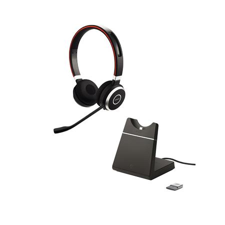 Jabra Evolve 65 Ms Stereo Bluetooth Headset With Usb Adapter And Charging Stand 6599 823 399