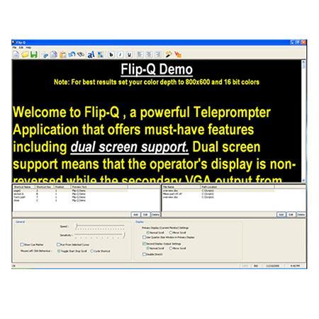 JonyJib Flip-Q Pro Teleprompter Reversing/Scrolling Software JP FLIP