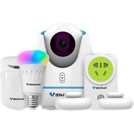 KJB Security Products SH1270 DIY Smart Home Kit, Includes 720p PTZ IP  Camera, PIR Sensor and Door Sensors