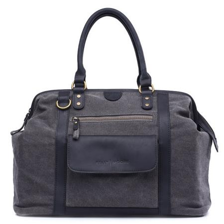 kelly moore jude bag gray canvas with black trim kmb cnv gry. Black Bedroom Furniture Sets. Home Design Ideas