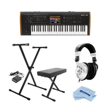Korg Kronos 61 Key Music Workstation with SGX-2 Engine W/On-Stage  Keyboard/Headp
