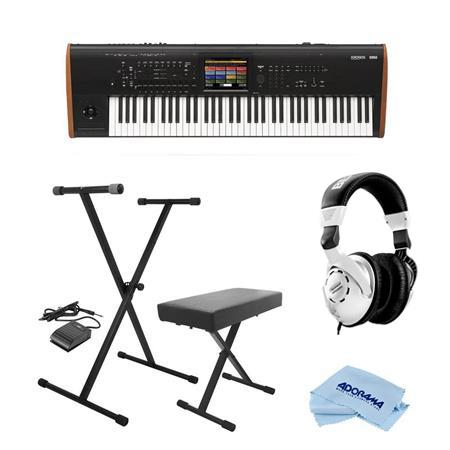 Korg Kronos 73 Key Music Workstation with SGX-2 Engine W/On-Stage  Keyboard/Headp