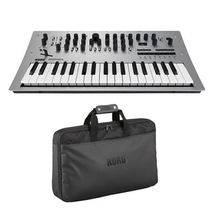 korg minilogue 4 voice polyphonic analog synthesizer with korg custom case minilogue a. Black Bedroom Furniture Sets. Home Design Ideas
