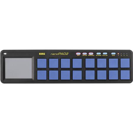 Korg nanoPAD2 Slim-Line USB MIDI Controller, Blue/Yellow