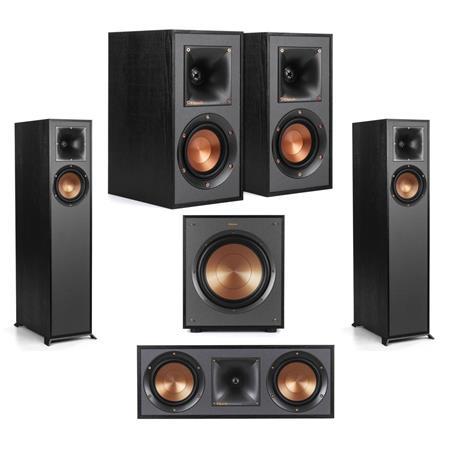 Klipsch 2X R-610F Floorstanding Home Speaker W/ R-41M / R-52C / R-100SW  Speakers