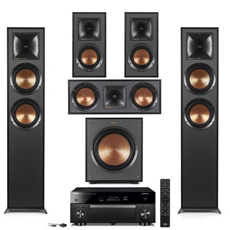 Klipsch 2 Pack R-625FA Dolby Atmos Floor standing Speaker With Speaker  Bundle