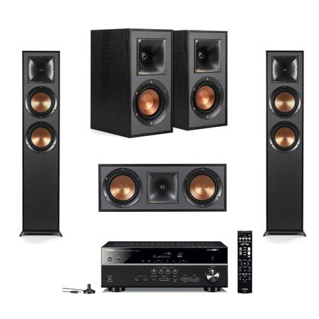 Klipsch 2 Pack R 625fa Dolby Atmos Floor Standing Speaker Bundle With R 41m Bookshelf Home Speakers R 52c Center Channel Home Speaker Yamaha