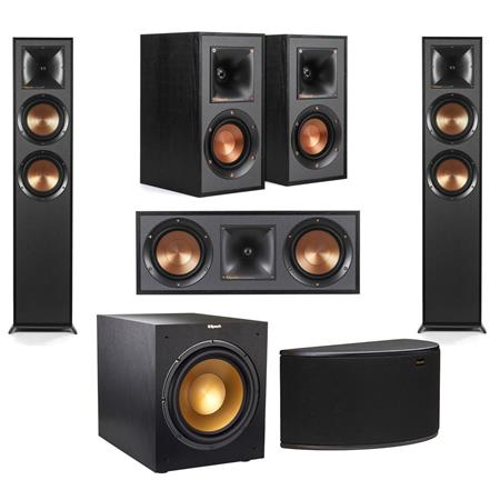 Klipsch 2 Pack R-625FA Dolby Atmos Floor standing Speaker With Speaker  Bundle