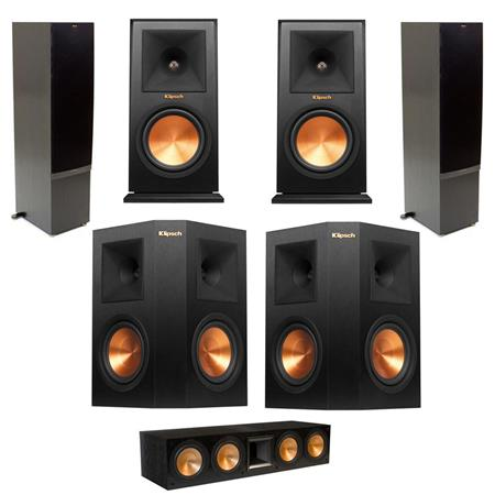 klipsch 2x rf 7 ii floorstnding black w rc 64 ii center rp. Black Bedroom Furniture Sets. Home Design Ideas