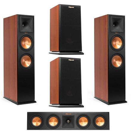 Deals on Klipsch 2x RP280FA Floorstanding Speaker Cherry Vinyl Speaker
