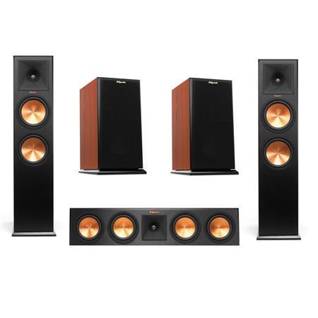 Klipsch 2x Reference Premiere RP-280F 2-Way Floorstanding Speaker,Cherry -  Bundle With Klipsch RP-160M 2-Way Bookshelf Speaker Pair Cherry , Klipsch