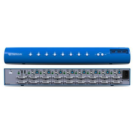 Kramer Electronics 8-Port DVI-I Video Dual-Head KVM Switch with USB