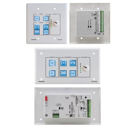 Kramer Electronics RC-63D 6-Button Room Controller with Digital Volume  Control & Printed Group Labels