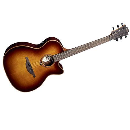 Lag Tramontane T100ace Auditorium Cutaway Acoustic Electric Guitar Brown Shadow T100acebrs