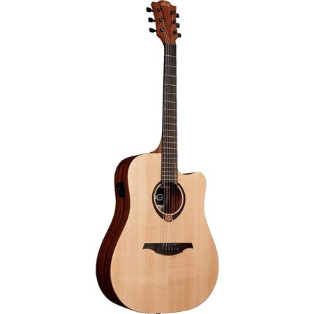 lag tramontane t70 dreadnought cutaway acoustic electric guitar natural t70dce. Black Bedroom Furniture Sets. Home Design Ideas